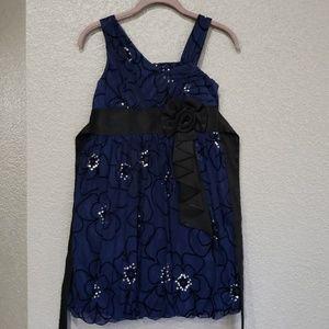 My michelle Girls navy blue dress size 12